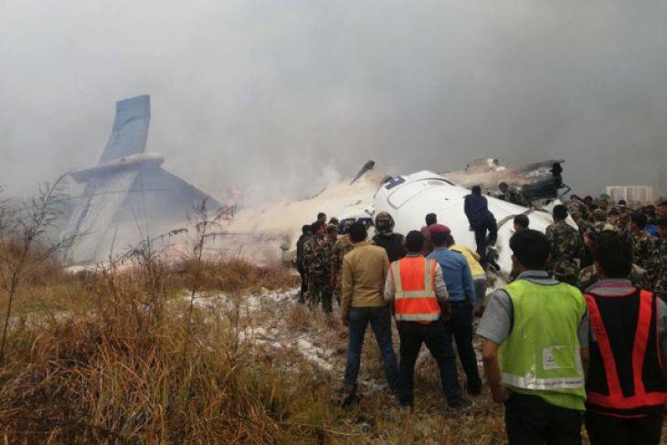Pesawat berpenumpang 71 orang jatuh di Nepal