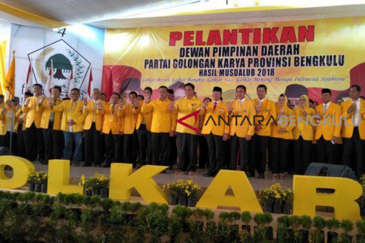 Plt Gubernur dilantik menjadi ketua Golkar Bengkulu