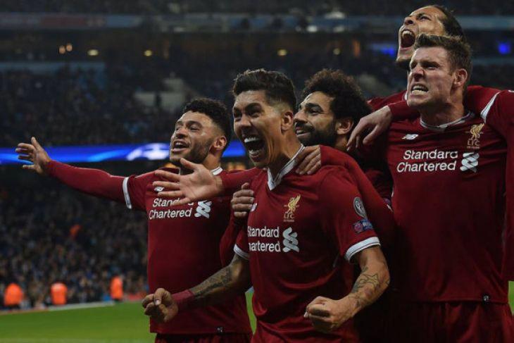 Mohamed Salah dan Firmino kandaskan mimpi Man City di Liga Champions