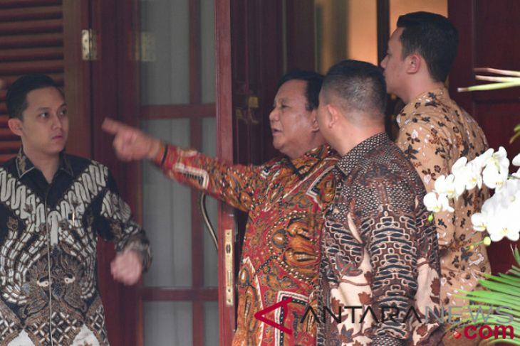 Prabowo kembali datangi rumah SBY