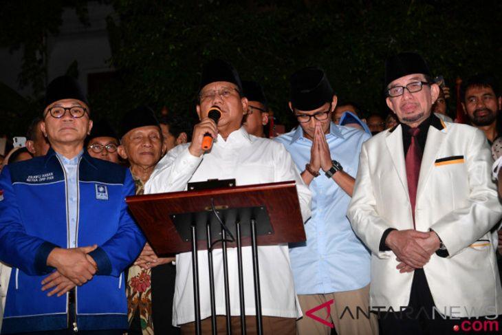 Prabowo: Terima kasih PAN-PKS