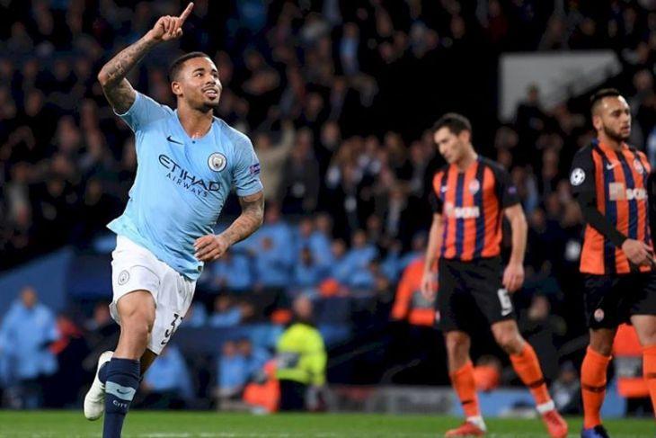 City hajar tim tamu Shakhtar dengan enam gol tanpa balas