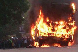 Empat bus terbakar di Kota Bekasi