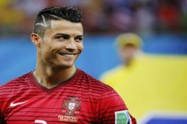 Cristiano Ronaldo mencetak gol untuk Juventus