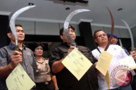 Celurit Disita Dari Kelompok Remaja Diduga Akan Tawuran