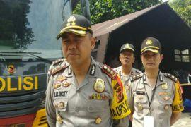 Polres Bogor melakukan penjagaan tempat ibadah