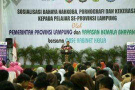 Pjs. Gubernur Lampung Jabarkan Pesan Ibu Negara tentang Bahaya Narkoba kepada Para Pelajar