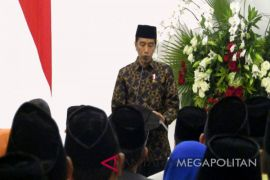 Jokowi-Ma'ruf kumpul di Gedung Joang 45