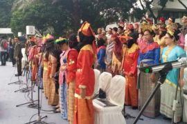 PSM IPB Agria Swara persembahkan 4 lagu di hadapan Presiden RI di Hari Lahirnya Pancasila