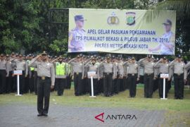 Kapolrestro Bekasi Kota lepas 2.500 personel TPS