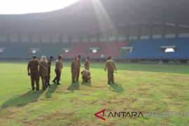 Rumput Stadion Patriot Bekasi kering akibat pestisida