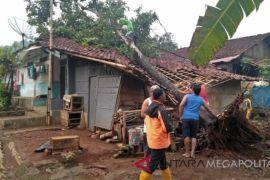 Rumah janda tua di Sukabumi tertimpa pohon