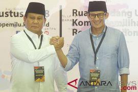 Prabowo-Sandiaga sampaikan dana awal kampanye Rp2 miliar