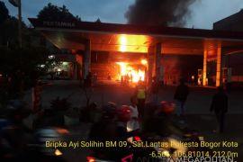 Kebakaran Melanda SPBU di Kota Bogor