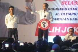 Joko Widodo melantik 7.000 sukarelawan di Sentul