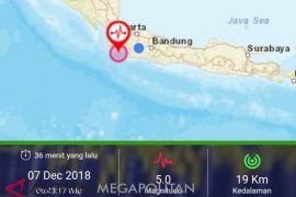Gempa Lebak Banten terasa hingga Sukabumi