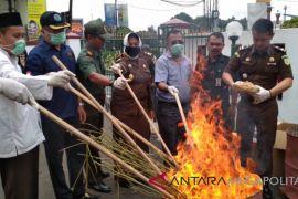 Kejari Sukabumi musnahkan barang bukti narkoba