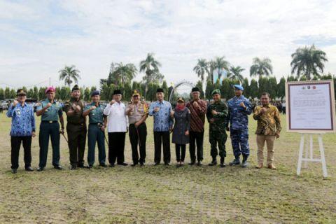 Forkopimda Lampung Menandatangani Deklarasi Netralitas TNI Polri dan ASN