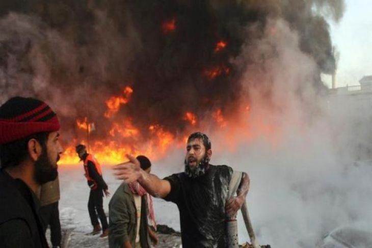 Jet Tempur Israel Menggempur Jalur Gaza