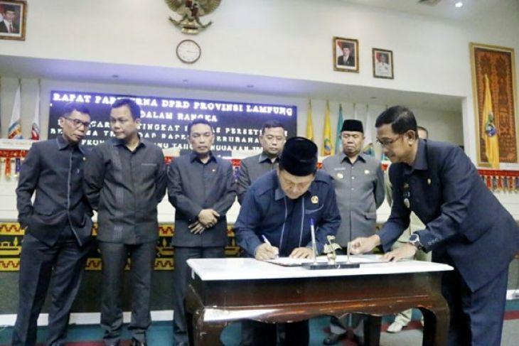 DPRD Lampung Sahkan Perubahan APBD 2017, Total Pendapatan Rp7,7 Triliun