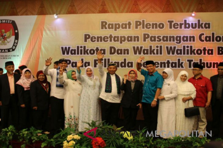 KPU Bekasi tetapkan nomor urut calon pilkada