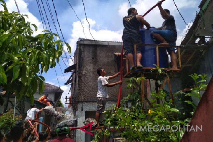 Kebakaran landa kawasan padat penduduk Kota Sukabumi