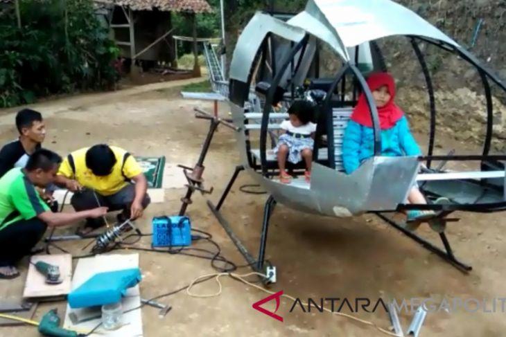 Warga Sukabumi ciptakan helikopter berbahan bakar premium
