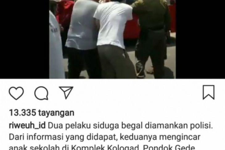 Polisi tangkap penjambret viral di medsos