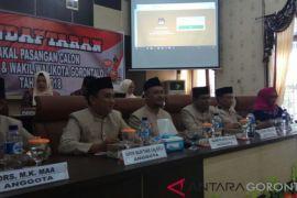 KPU Kota Gorontalo Terima Tiga Pasangan Calon