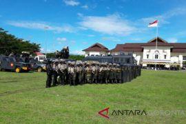 Polda Gorontalo Gelar Simulasi Pengamanan Pilkada di Gorontalo Utara