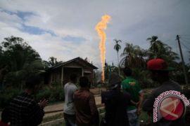 Lima Rumah Ludes Terbakar Akibat Sumur Minyak