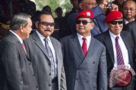 Prabowo-Gatot Duduk Berdampingan Saat HUT Kopassus