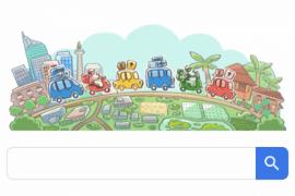 Google Doodle Bertemakan Mudik Lebaran