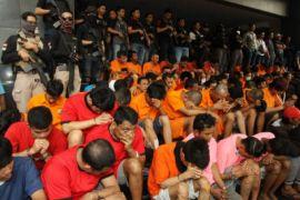 Ratusan Preman Terjaring Operasi Libas Polres Cirebon