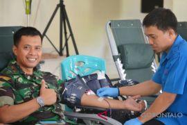 Satradar 224 AURI Kwandang Gelar Donor Darah