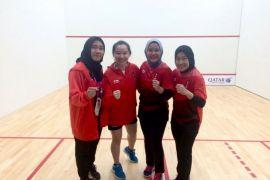 Tim Squash Putri Indonesia Menang Tipis Atas Iran