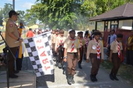 Ribuan Peserta Ramaikan Gerak Jalan Bone Bolango