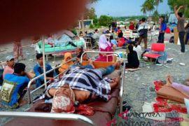Posko Pengungsian Polda Sulteng Kekurangan Air Bersih
