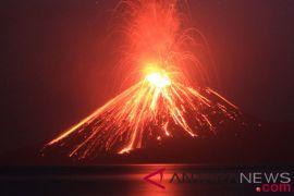 Gunung Anak Krakatau Meletus 348 Kali