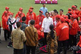 Presiden Jokowi Silaturahim Dengan Atlet Asian Para Games