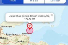 Gempa Rusak Rumah Warga Kabupaten Jembrana