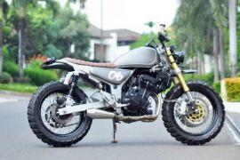 Kawasaki Ninja 250 Bergaya Scrambler