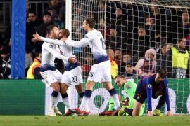 Paksakan Hasil Imbang di Nou Camp, Tottenham Dampingi Barcelona Ke 16 Besar