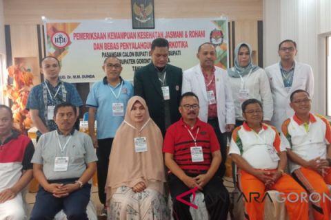 Penutupan Pemeriksaan Kesehatan Cabup/Cawabup Gorontalo Utara