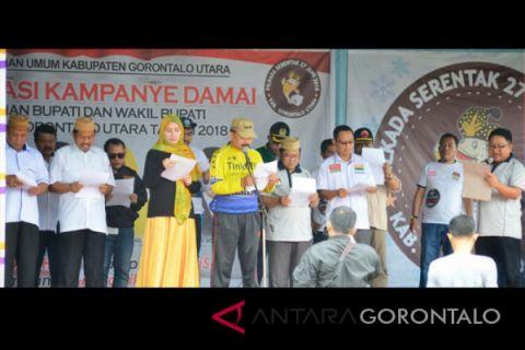 Deklarasi Kampanye Damai Pilkada Gorontalo Utara