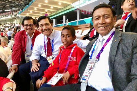 Joni Pemanjat Tiang Bendera Di Antara Pembesar Negara, Saksikan Pembukaan Asian Games