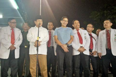 Prabowo-Sandiaga Jalani Pemeriksaan Kesehatan Selama Tujuh Jam