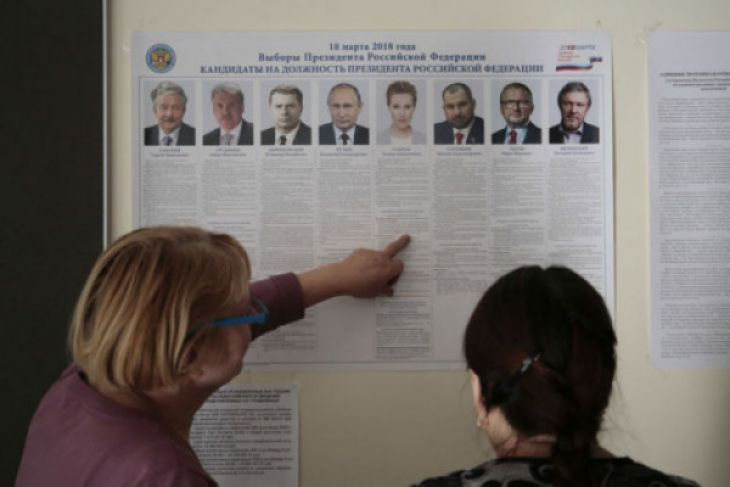 Warga Rusia Gunakan Hak Pilih Tentukan Presiden Selanjutnya