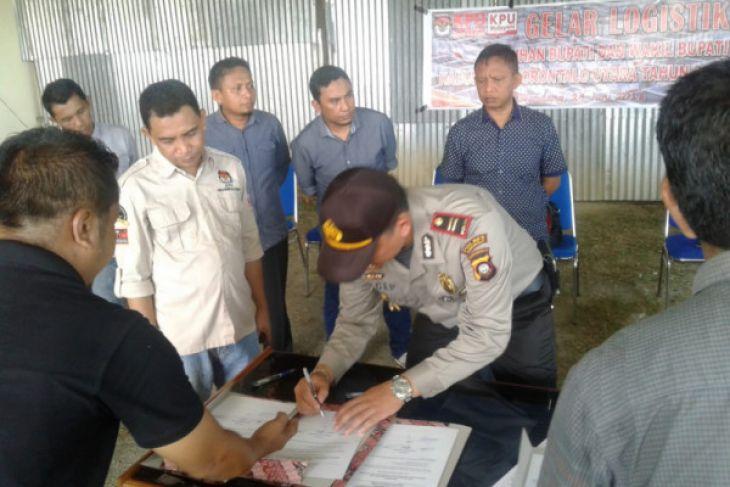 Pemusnahan Surat Suara Pilkada Gorontalo Utara