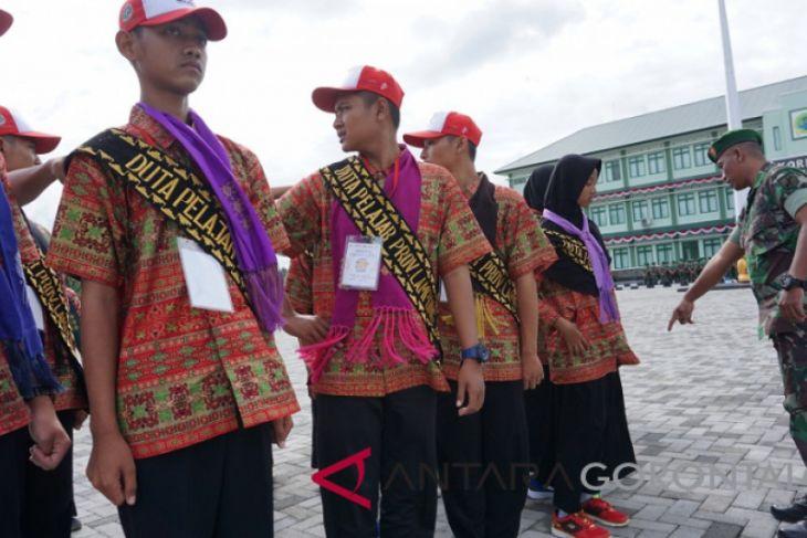 BUMN Hadir -  SMN Asal Lampung Latihan Baris-berbaris